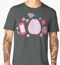 Girl's Brain Pattern Men's Premium T-Shirt