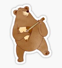 Russian Bear with Balalaika Sticker