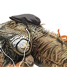 Iguana von Barbara Baumann Illustration