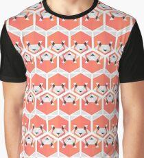 Red Panda Honeycomb Graphic T-Shirt