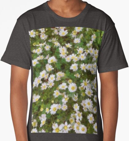 Daisies In Spring Long T-Shirt
