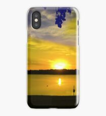Windwood Lake Sunset iPhone Case