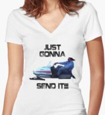 Just Gonna Send it Larry Enticer Meme Tee Shirt Women's Fitted V-Neck T-Shirt
