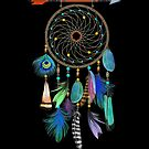 Watercolor Feathers Dream Catcher by Cherie Balowski