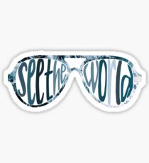 see the world sunglasses waves Sticker