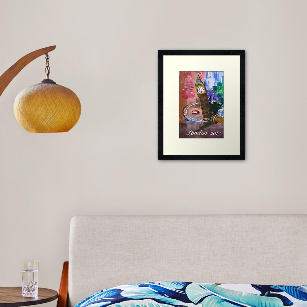 London Hoop Framed Art Print