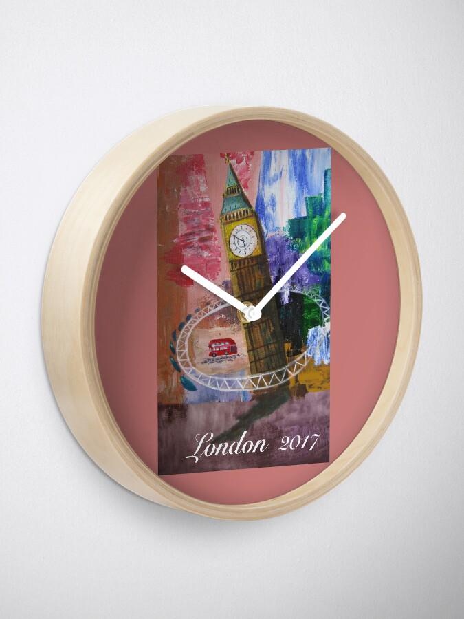 Alternate view of London Hoop Clock