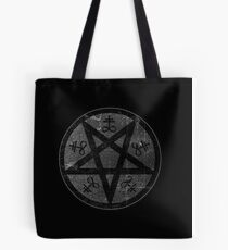 eVIL pENTAGRAM , bLACK mETAL sATANIC t-SHIRT,oCCULt  FAShIOn Tote Bag