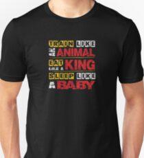 Train Like An Animal Gym Quote  T-Shirt