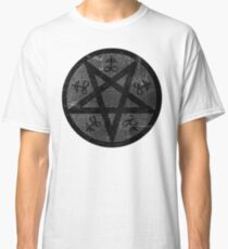 eVIL pENTAGRAM , bLACK mETAL sATANIC t-SHIRT,oCCULt  FAShIOn Classic T-Shirt