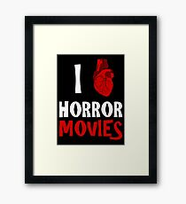 I (heart) HORROR MOVIES Framed Print