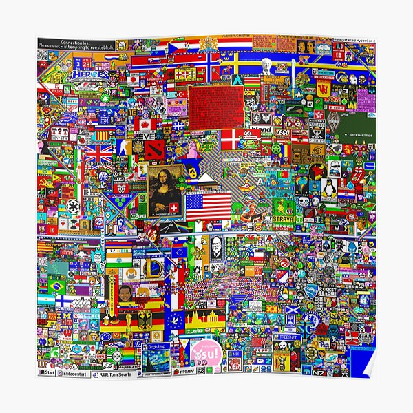 Reddit r/Place 12K (Without Void) Poster