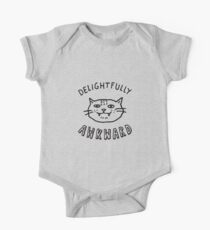 Delightfully Awkward - Cute & Quirky Kitty Cat One Piece - Short Sleeve