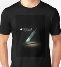 FF7 menu new game Unisex T-Shirt
