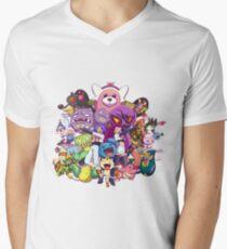Team Rocket - Vergangenheit & Gegenwart T-Shirt mit V-Ausschnitt