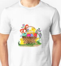 Chicken and easter eggs Unisex T-Shirt