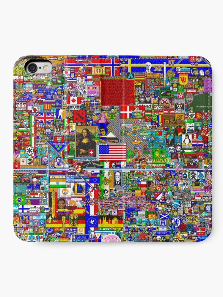 Vista alternativa de Fundas tarjetero para iPhone Reddit r / Place 12K