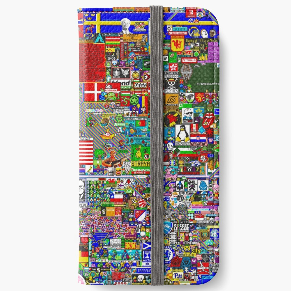 Reddit r / Place 12K Fundas tarjetero para iPhone