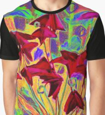 Oxalis / Psychedelic version, modern floral art  Graphic T-Shirt