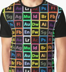 Periodic Table of Design Graphic T-Shirt