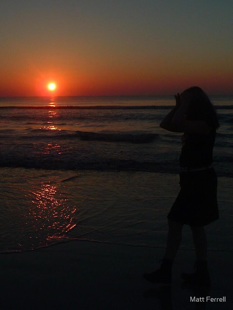 Sunrise on beach 3 by Matt Ferrell