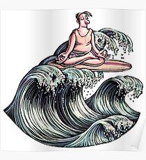 Surfing Meditation Poster