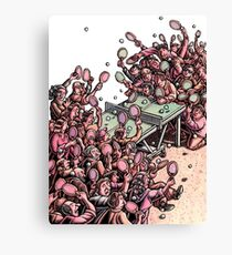 Crowded Ping Pong Game Canvas Print