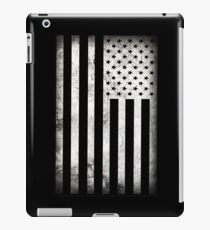 American Flag Black & White  iPad Case/Skin