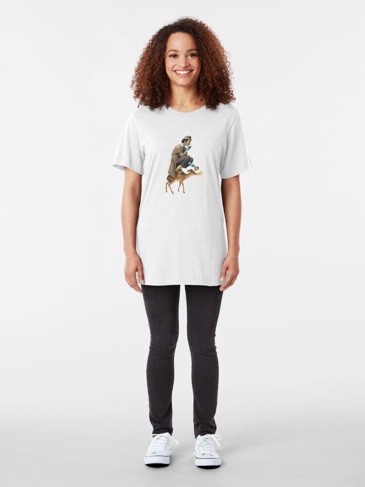 Alternate view of Dik Dik Dick | Digital Illustration Slim Fit T-Shirt