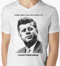 JFK Men's V-Neck T-Shirt