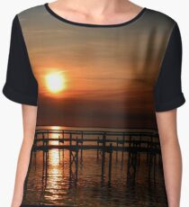 Sunset In South Carolina Chiffon Top