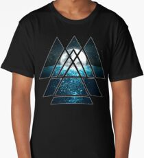 Sacred Geometry Triangles - Oceanic Moon  Long T-Shirt