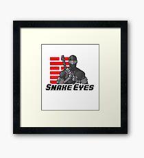 Snake Eyes — G.I. Joe Framed Print