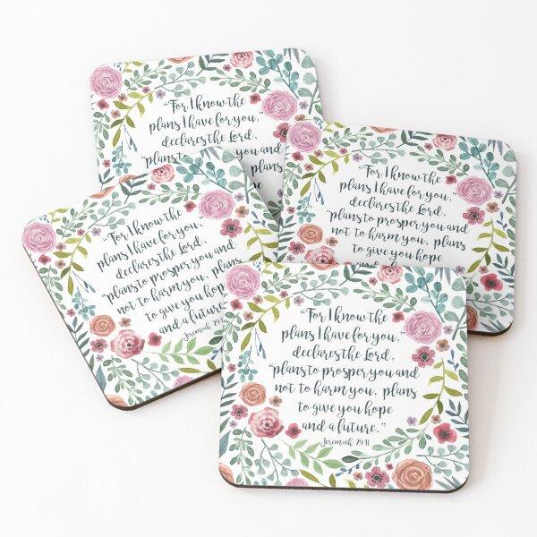 Jeremiah 29:11 Coasters (Set of 4)