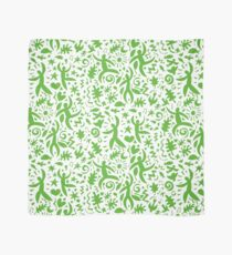 Cuban Salsa - green on white - contemporary dance pattern by Cecca Designs Scarf