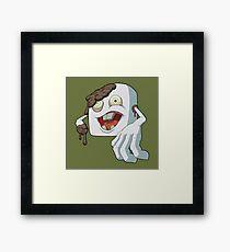 Zombie Marshmallow Framed Print
