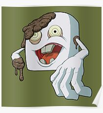 Zombie Marshmallow Poster