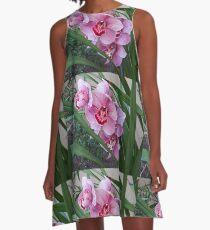 Pink Orchids A-Line Dress