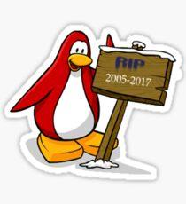 RIP Club Penguin 2005-2017 Sticker