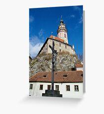 Round Tower, Cesky Krumlov Greeting Card