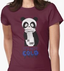 """""""The Cold Panda"""" Graphic Print Womens Fitted T-Shirt"""