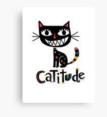 Catitude Canvas Print
