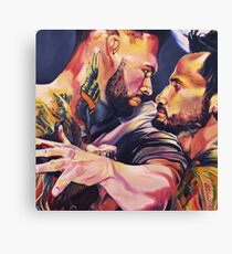 Offense - Oil Painting Canvas Print