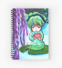 Water Sprite - copic illustration original character Spiral Notebook
