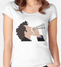 Parks & Recreation - Jean Ralphio, Flushed with Cash Women's Fitted Scoop T-Shirt