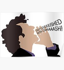 Parks & Recreation - Jean Ralphio, Flushed with Cash Poster