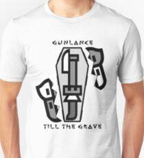 Gunlance Till The Grave - Cracked T-Shirt