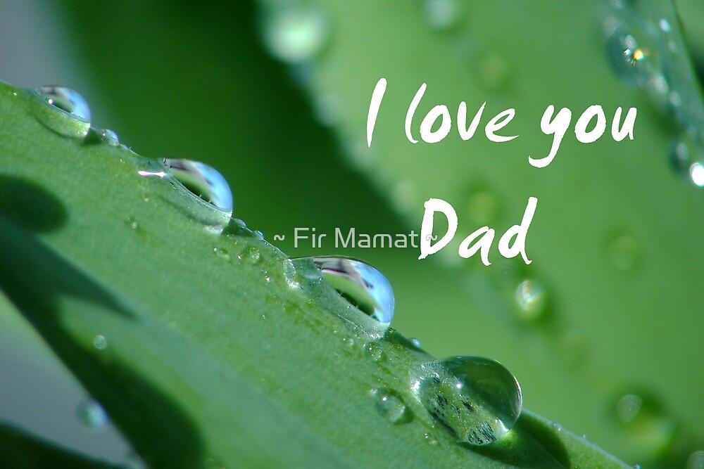 """I love you Dad"" by ~ Fir Mamat ~"