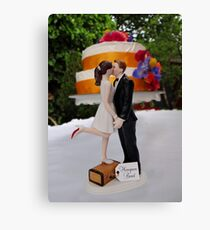 Wedding Cake Topper Canvas Print