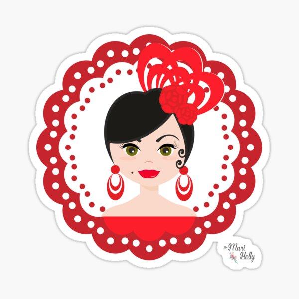 MariHolly Flamenca Pegatina